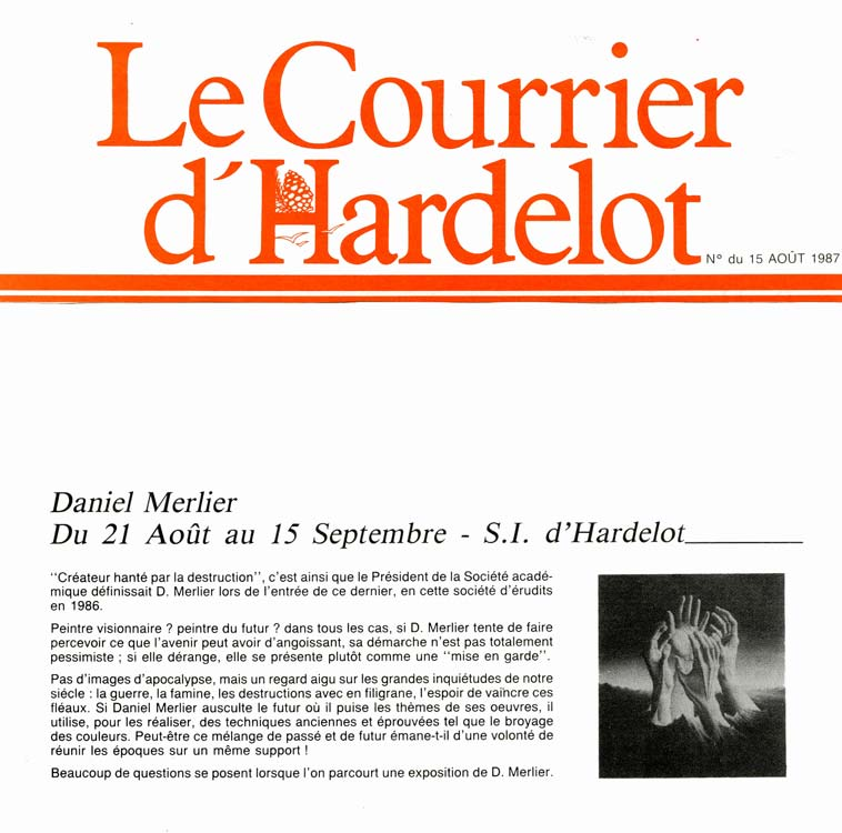 courrier hardelot 1987